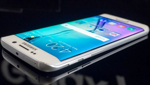 The slim and sleek, thin-edged Galaxy S6 phone from Samsung